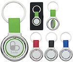 Circular Metal Spinner Key Tags